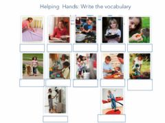 Ficha interactiva Helping hands Write