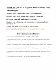 Interactive worksheet Entry speaking