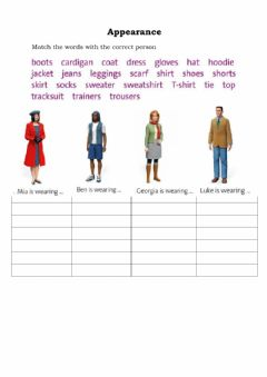 Interactive worksheet Appearance