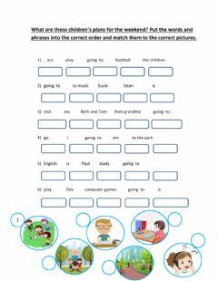 Interactive worksheet Going to - Make sentences