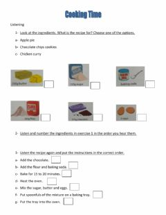Interactive worksheet Cooking Time