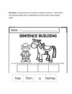Interactive worksheet Sentence  Builder