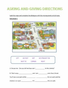 Interactive worksheet Aking and giving directions - complete