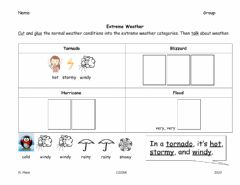 Interactive worksheet Extreme and Ordinary Weather