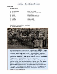 Interactive worksheet 2nd Year -USE OF ENGLISH PRACTICE