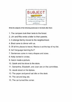 Interactive worksheet Subject Worksheet