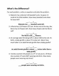 Interactive worksheet What's the difference?