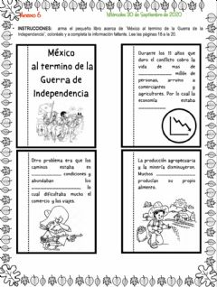 Interactive worksheet Mexico al termino de la independencia