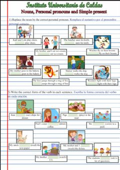 Interactive worksheet Simple present and Personal pronouns