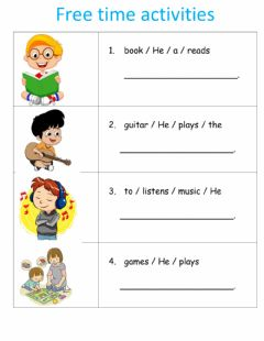 Interactive worksheet Free time activities ii