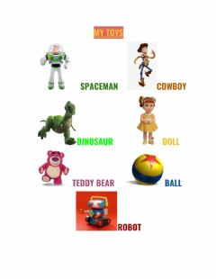 Interactive worksheet My toys - Click and listen