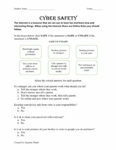 Interactive worksheet Cyber Safety
