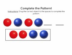 Interactive worksheet Complete the Pattern