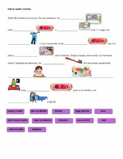 Interactive worksheet Rutina