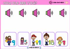 Interactive worksheet How old are you?(Listen and match)