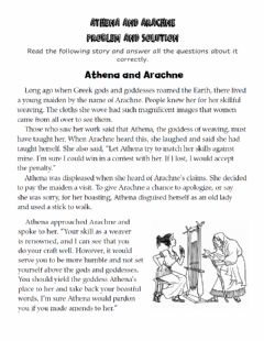 Ficha interactiva Athena and Arachne Problem and Solution