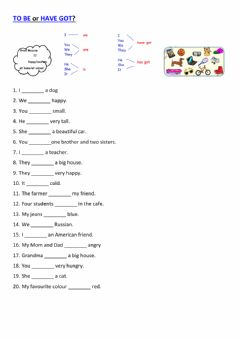 Interactive worksheet Have got or to be