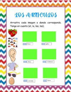 Interactive worksheet Los articulos.