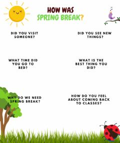 Interactive worksheet Spring break!