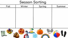 Interactive worksheet Sorting Seasons