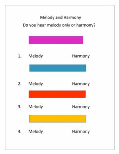 Interactive worksheet Melody and Harmony
