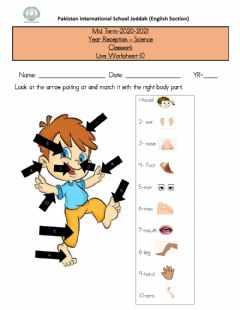 Interactive worksheet Unit 4 Ourselves