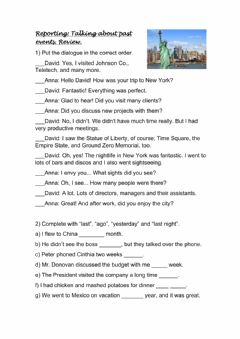 Interactive worksheet Talking about past events