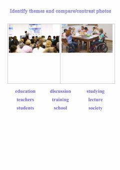 Interactive worksheet Identify themes and compare-contrast photos