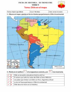 Interactive worksheet Chile en el mapa