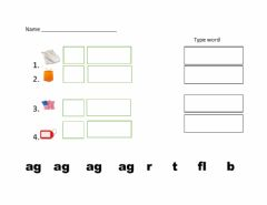 Interactive worksheet Ag words