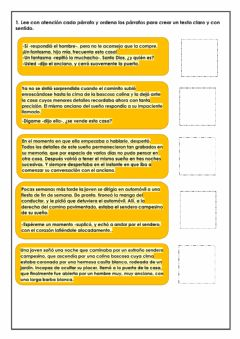 Interactive worksheet Expositivo