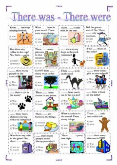 Interactive worksheet There was - there were (interactive)