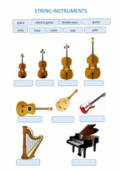 Interactive worksheet String Instruments
