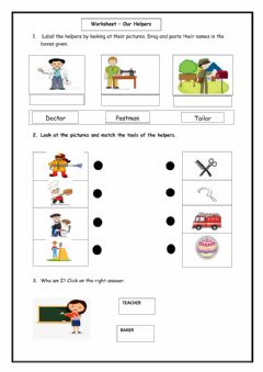 Interactive worksheet EVS - Our Helpers