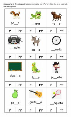Interactive worksheet Consonante R