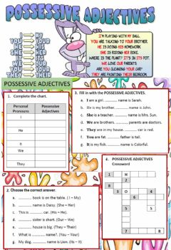 Ficha interactiva 5to CMA - POSSESSIVES