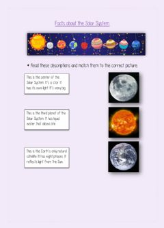 Ficha interactiva Facts about the Solar System