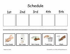 Interactive worksheet Hand Washing Sequence