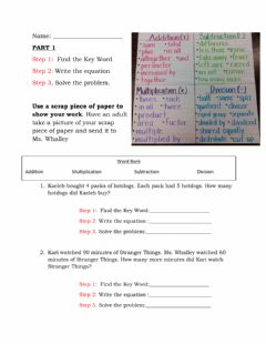 Interactive worksheet One step word problems and Volume