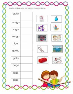 Interactive worksheet Ga,go,gu