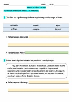 Interactive worksheet Ficha 4 T-2 LCL 5º epo
