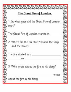 Interactive worksheet The Great Fire of London