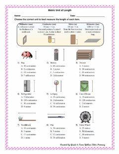 Interactive worksheet Metric Unit of Length