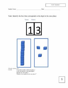 Ficha interactiva Level 1 November Math assessment k-2