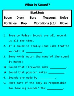 Interactive worksheet What is Sound?