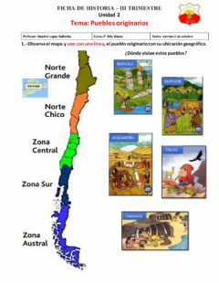 Interactive worksheet Pueblos originarios