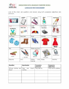 Interactive worksheet Whose and possessives