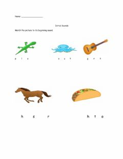 Interactive worksheet INITIAL SOUNDS 1