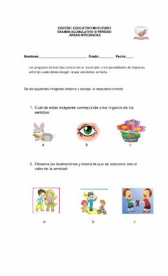 Interactive worksheet Evaluacion de areas integradas