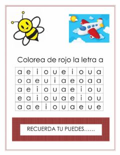 Interactive worksheet Letra Aa